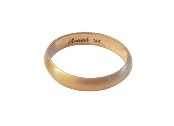 טבעת נישואין זהב   CR011
