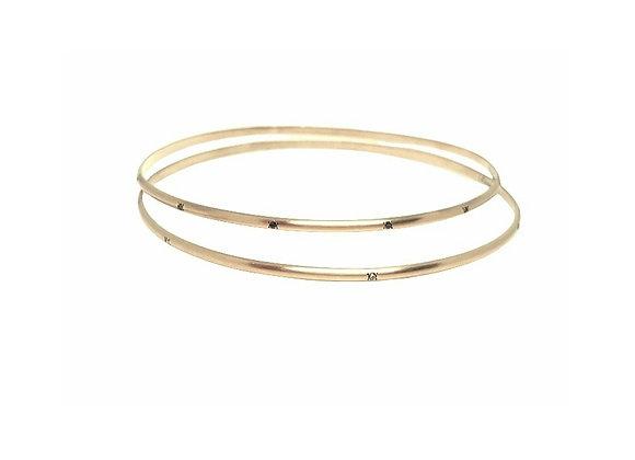צמיד זהב קשיח משובץ יהלומים  CB002