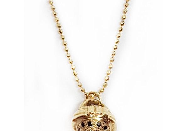 "BN009 שרשרת זהב ""אגוז אלון"""