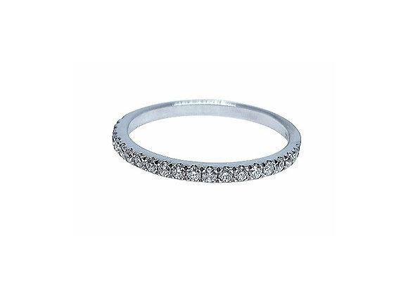טבעת נישואין זהב משובץ   CR013