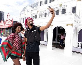 1. Patrons stop along CARIFESTA's 'Stree