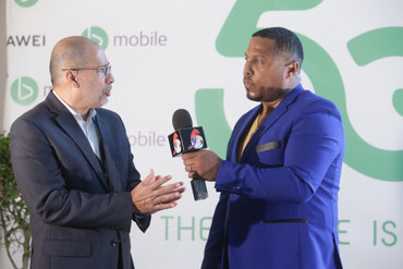CEO of the Trinidad and Tobago Chamber of Industry and Commerce, Gabriel Faria, discusses the impact on 5G on the business community as he participates in the first live TV broadcast over 5G.