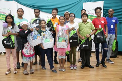 4. Young entrepreneurs celebrate the lau