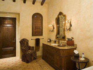 Tuscan Style Guest Bath