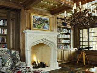 Walnut Paneled Library