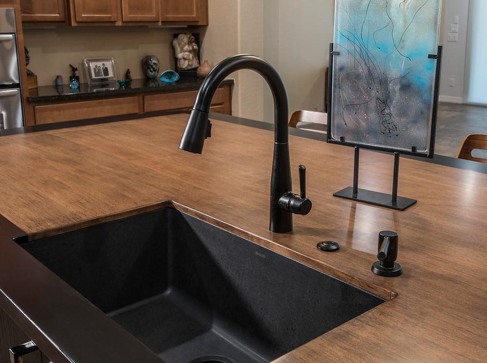 Integrated under-mount sink