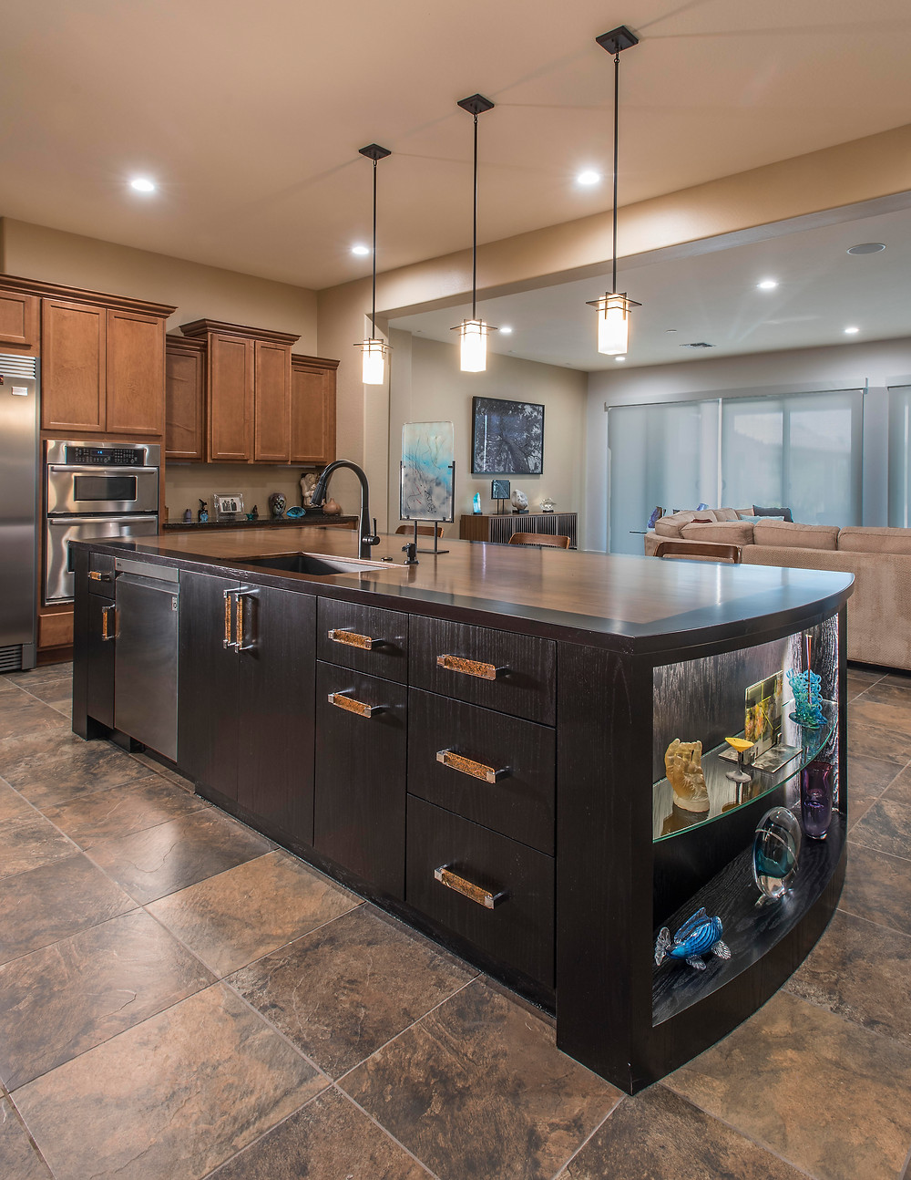 Solid wood counter top