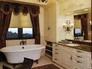 Traditional White Bath Cabinetry