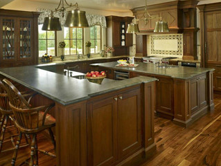 Traditional Brown Mahogany Kitchen