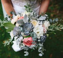 bride posy grey