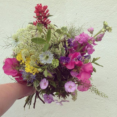 Meadow flowers for bride