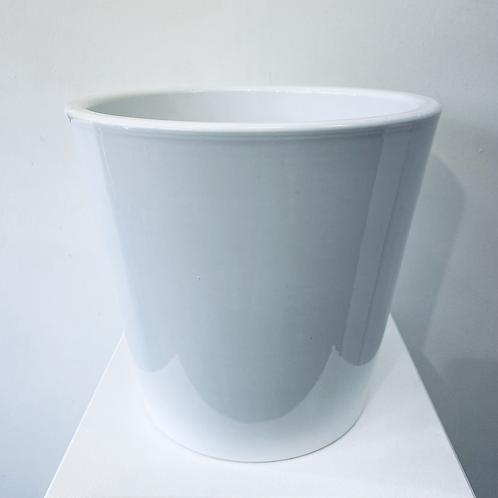 Flower Pot - White Ceramic - Large