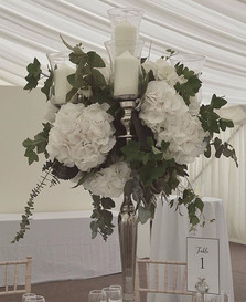 Elevated florals in crisp white and gree