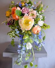 Bright spring shower bouquet