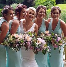 bride's flowers bridesmaids flowers