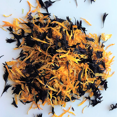 Ginger Noir Orange and Black Biodegradable Confetti - 1 Litre
