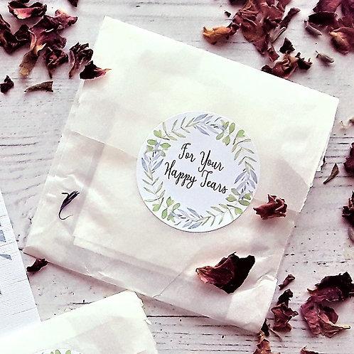Happy Tears Wedding Tissue Bags - Pack of 10