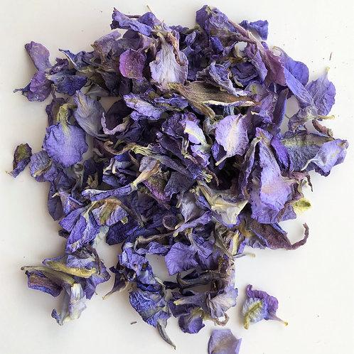 Violet Dream Delphinium Petal Confetti - 1 Litre
