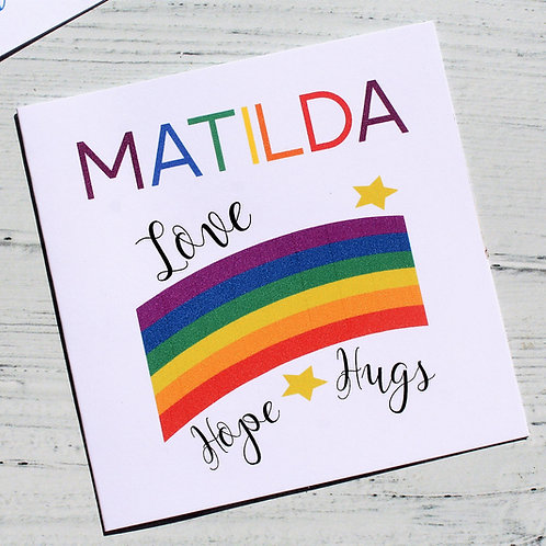 Personalised Rainbow Card DPD
