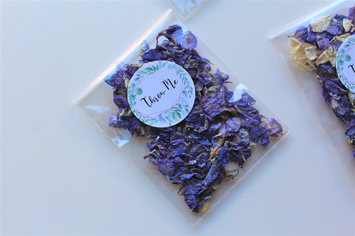 Biodegradable Confetti Clear Cello Bag Violet Dream Delphinium Mix