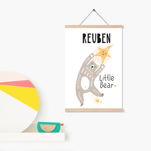 Personalised Nursery Children's Print Poster - Custom Wall Art - Print Only