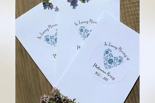 Funeral Memorial Wildflower Seed Personalised Bags Wedding Favours