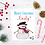 Thumbnail: Personalised Christmas Cards Cute Vintage Style Designs pack of 10