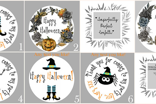 Personalised Stickers Halloween Theme