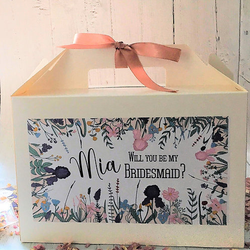 Personalised Wedding Boxes Brides, Bridesmaids, Maids of Honour Wildflowers