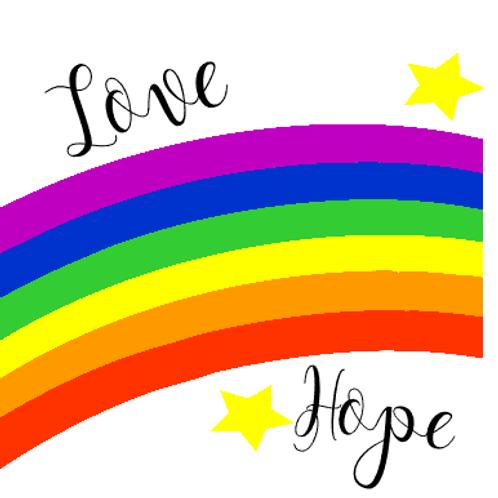 Rainbow Love Hope Stickers