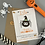 Thumbnail: Personalised Halloween Pumpkin Seed Card Party Favour