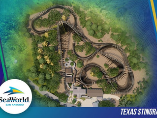 Acompanhe a construção da Texas Stingray, do parque SeaWorld San Antonio.
