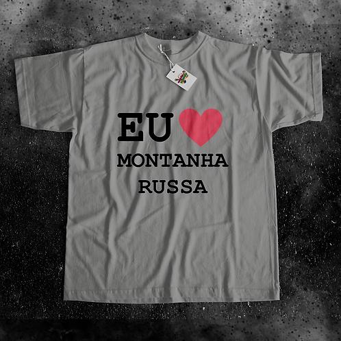 Camiseta Eu AMO Montanha-Russa