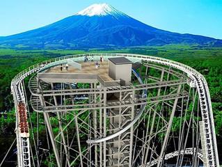 Fujiyama Tower será a nova torre de observação do parque japonês Fuji-Q Highland