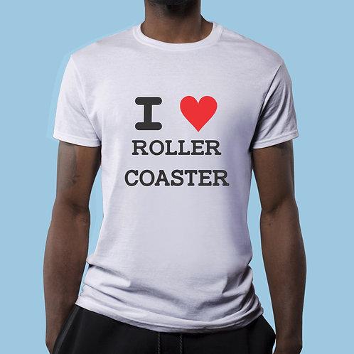 Camiseta I LOVE RollerCoaster