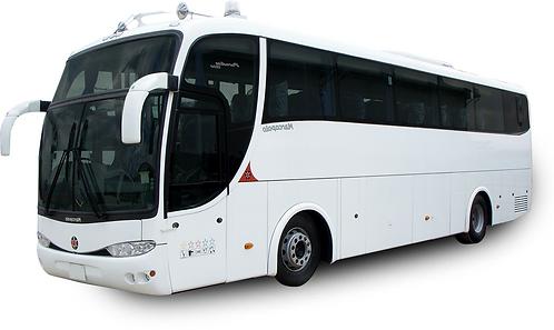Ônibus e inscrição