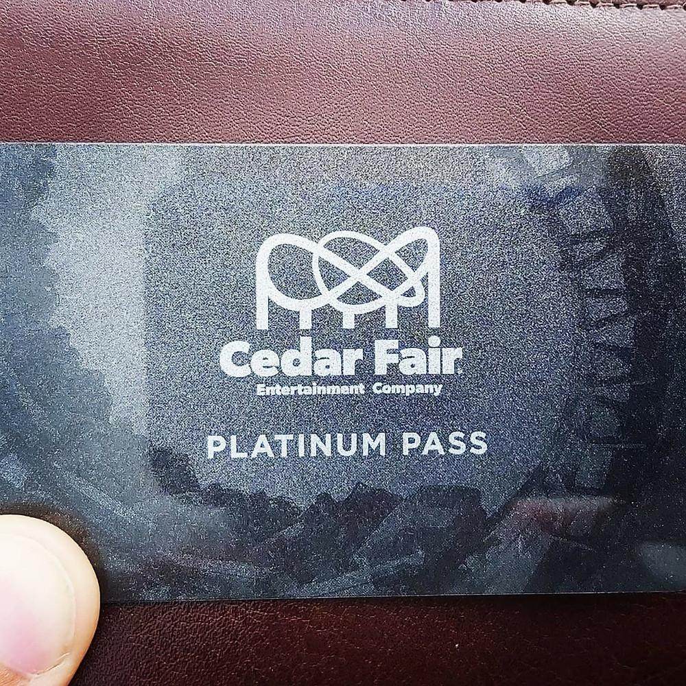 Season Pass Platinum da rede Cedar Fair