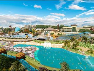 Thermas Hot World trabalha para entregar a maior praia artificial do Brasil.