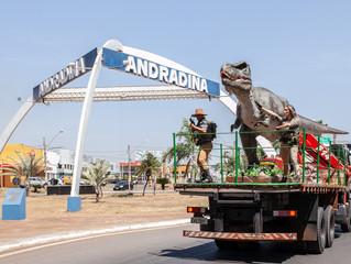 Andradina ganhará segundo parque temático inspirado em dinossauros.