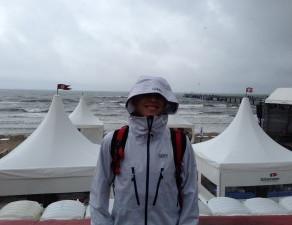 First IM 70.3 podium - Rügen, too rough to swim
