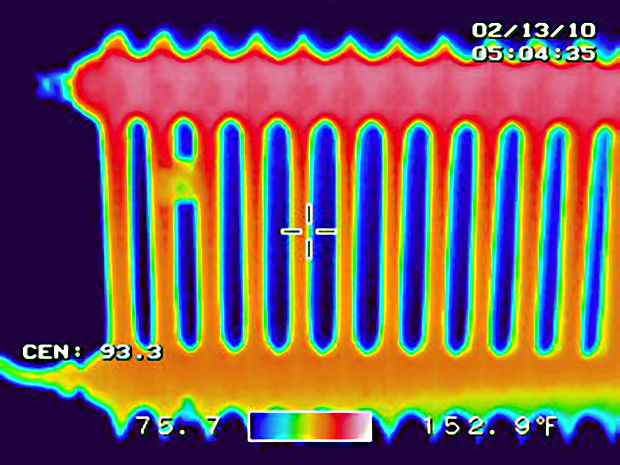 a thermography or thermal image of a rad