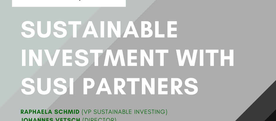 Sustainable Investment with SUSI Partners