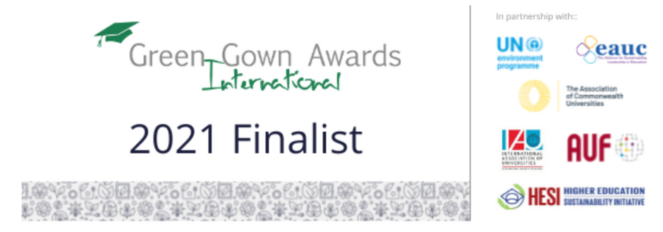 We are finalists in the International Green Gown Awards 2021!