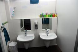 Da werden die Hände gewaschen ...