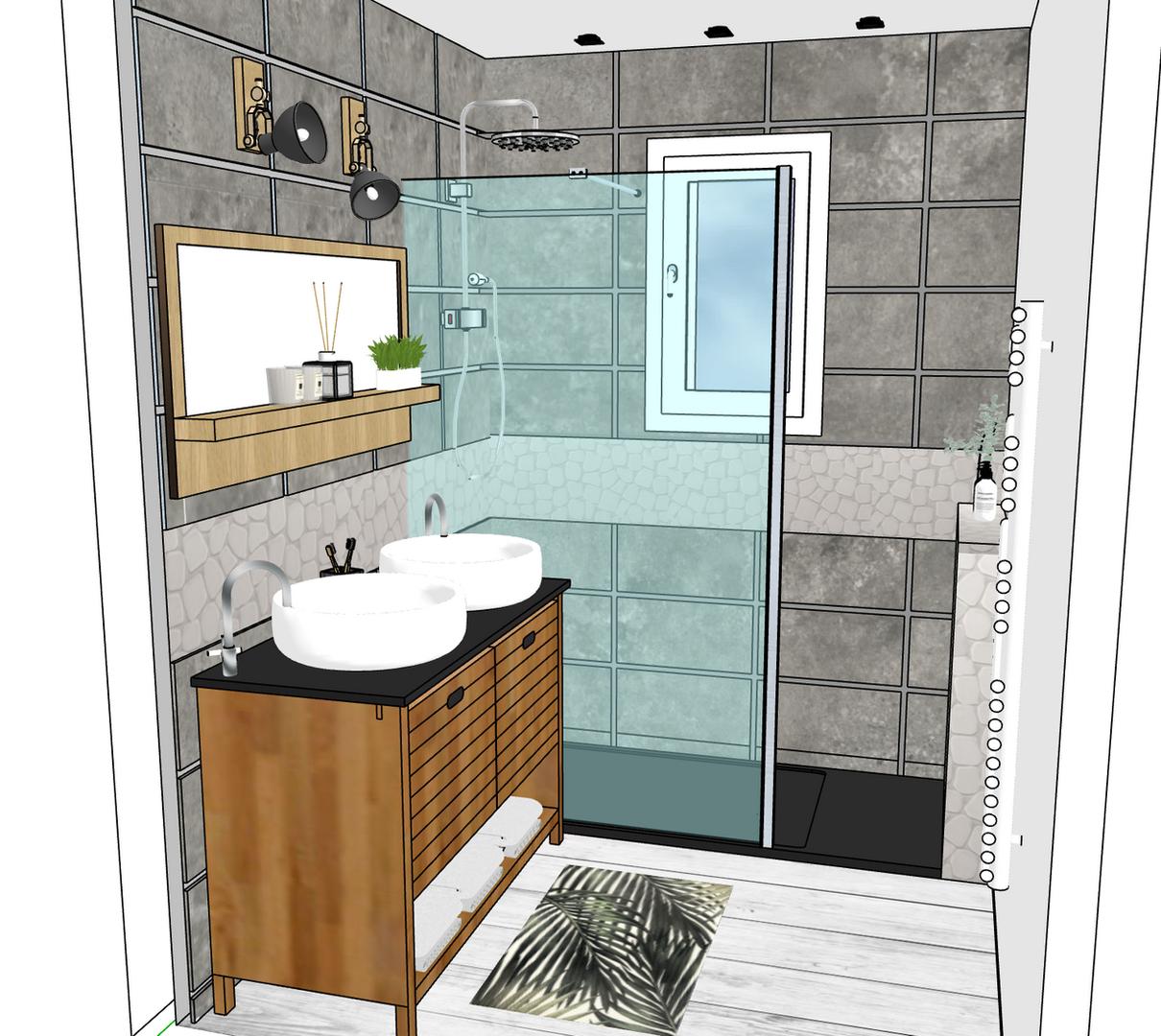 Rénovation d'une petite salle d'eau à Frouzins en occitanie 1/3