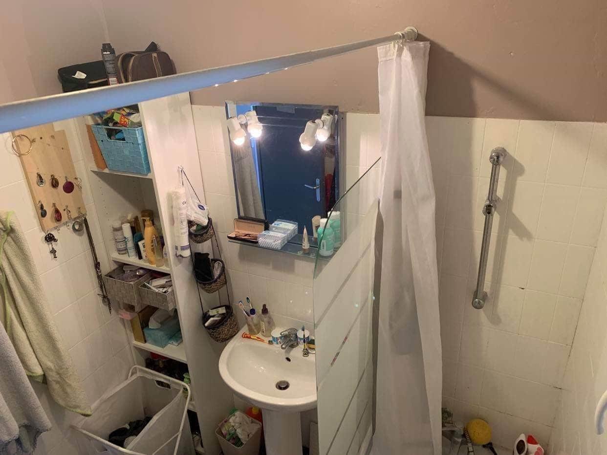 AVANT : Rénovation d'une petite salle d'eau à Frouzins en occitanie 1/3