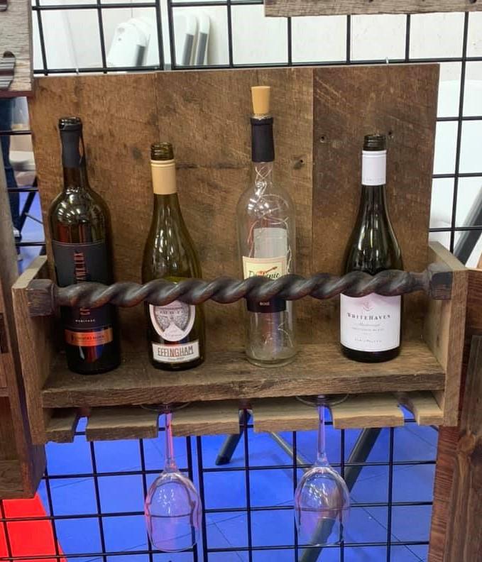 Primitive Style Barnwood Wine Rack.jpg