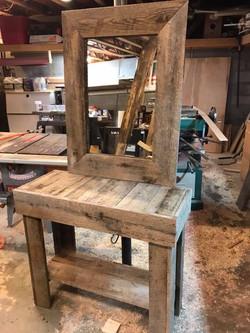 Barnwood Table and Mirror.jpg