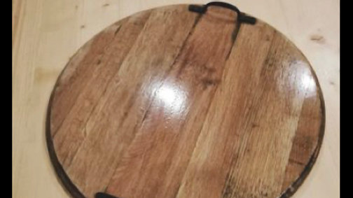 Barrel Head Serving Tray or Lazy Susan