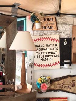 Balls Bats & Baseball Sign and Lamp.jpg